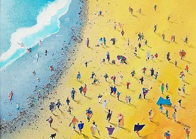 Coastal Painting - Beachcombing by Neil McBride
