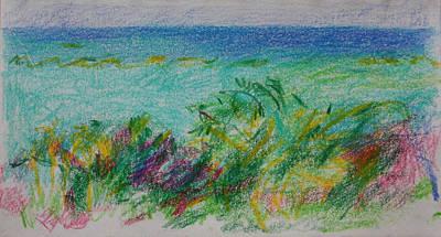 Beachview Cyprus Print by Anita Dale Livaditis