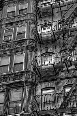 Beacon Hill Brownstone Tenement - Boston Print by Joann Vitali
