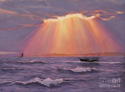 Beacons Of Light Print by Cindy Lee Longhini