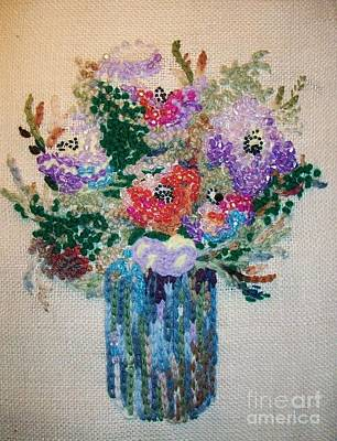 Needlework For Sell Painting - Beaded Flowers by Armen Abel Babayan