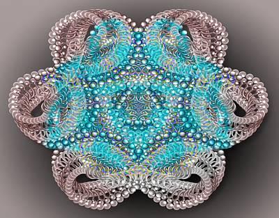 Beaded Kaleidoscope  Print by Gina Lee Manley