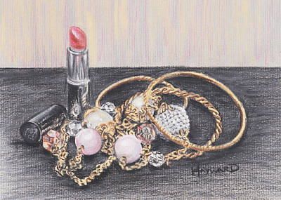 Beads And Bangles Print by Lucy Hayward