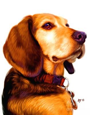 Beagle Puppies Painting - Beagle Dog Art Work by Iain McDonald