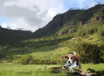 Beagle Love Print by Gabriel Mackievicz Telles