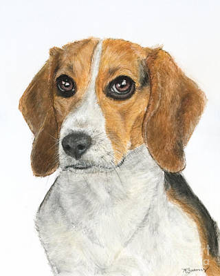 Beagle Painting - Beagle Painting by Kate Sumners