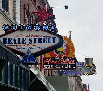 Memphis Photograph - Beale Street by JAMART Photography