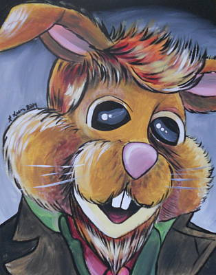 Muppets Painting - Bean Bunny As The War Doctor by Lisa Leeman