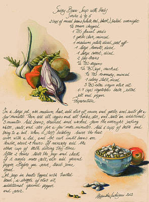 Bean Soup And Vegetables Print by Alessandra Andrisani