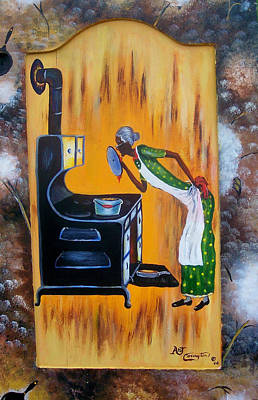 Old Culture Painting - Beans And Cornbread by Arthur Covington