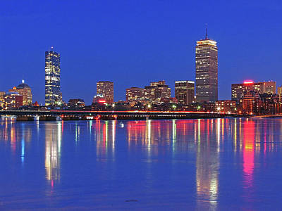 Beantown City Lights Print by Juergen Roth