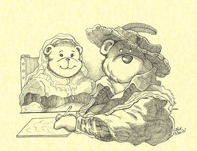 Bear Couple Print by Jack Puglisi