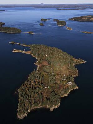 Bear Island, Penobscot Bay Print by Dave Cleaveland