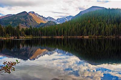 Mountain Reflection Lake Summit Mirror Photograph - Bear Lake by Brian Kerls