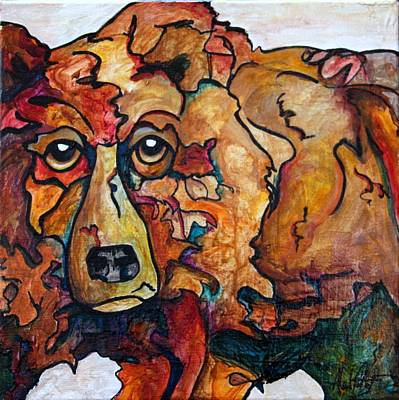 Bear Market Blues Print by Financial Greeting Cards