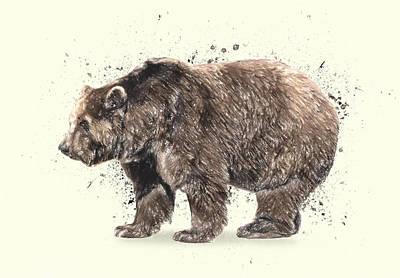 Kodiak Drawing - Bear Study by Taylan Soyturk