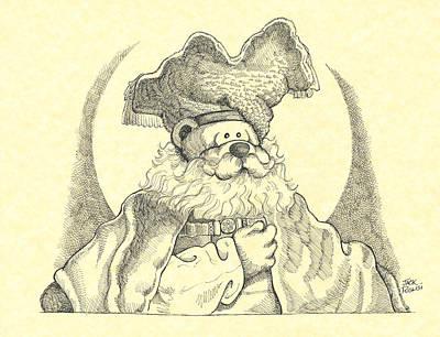 Bear With Beard Print by Jack Puglisi