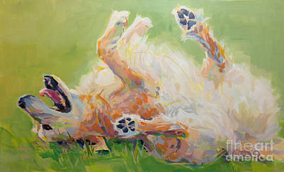 Curl Painting - Bears Backscratch by Kimberly Santini