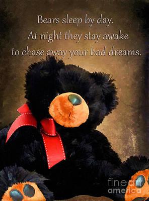 Teddybear Photograph - Bears Sleep By Day by Darren Fisher