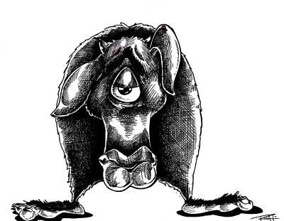Drawing - Beastie by Big Mike Roate