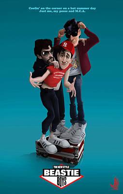 80 Digital Art - Beastie Boys_the New Style by Nelson Dedos Garcia