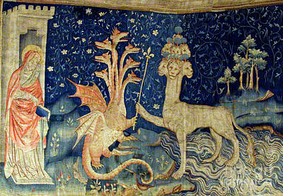 Folkloric Photograph - Beasts Of The Apocalypse Tapestry by Photo Researchers