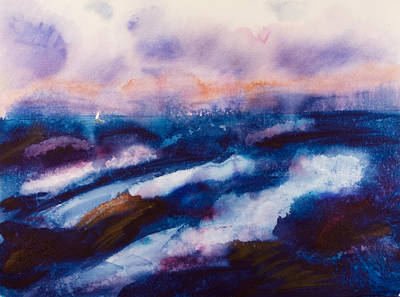 Wet Into Wet Watercolor Painting - Beating The Storm by Brook Powell