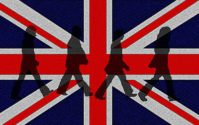 Mccartney Digital Art - Beatles Abbey Road  by Bill Cannon