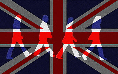Mccartney Digital Art - Beatles Abbey Road Flag by Bill Cannon