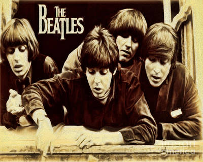 Beatles Print by Cheryl Young