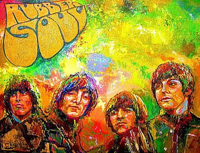 Beatles Rubber Soul Print by Leland Castro