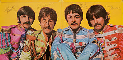 Beatles Sgt. Peppers Lonely Hearts Club Band Print by Robert Rhoads