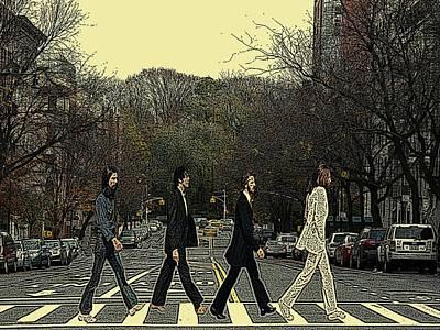 Beatles Walk New York Print by Movie Poster Prints