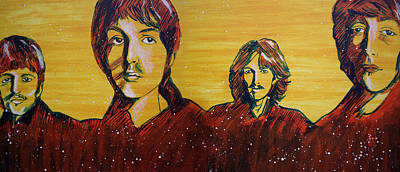 Abbey Road Painting - Beatles Widescreen by Linda Kassabian