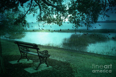 Beaufort South Carolina Surreal Ocean Inland Scene Print by Kathy Fornal