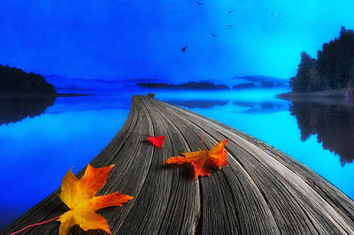 Red Leaf Digital Art - Beautiful Autumn Morning by Veikko Suikkanen