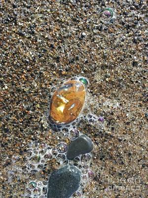 Agate Beach Oregon Photograph - Beautiful Beach Agate by Laura Joki