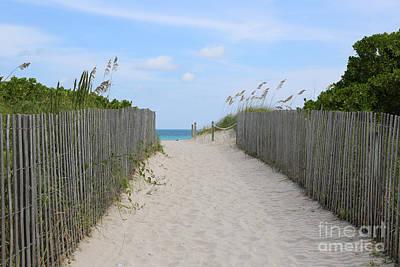 Beautiful Beach Day Print by Carol Groenen