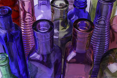 Beautiful Bottles Print by Garry Gay