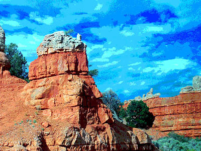 Digitized Image Photograph - Beautiful Buttes by Sharon Bock