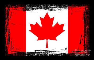 Old Montreal Mixed Media - Beautiful Canada Flag by Pamela Johnson