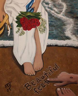 Beautiful Feet Print by Pamorama Jones