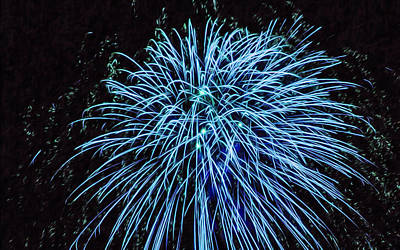 Fireworks Display Painting - Beautiful Fireworks 13 by Lanjee Chee