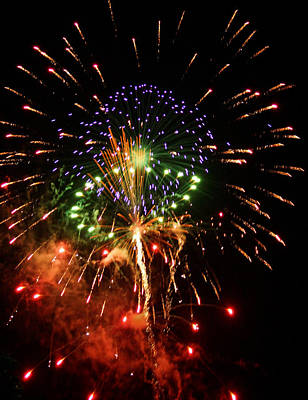 Photograph - Beautiful Fireworks Works by Kim Pate