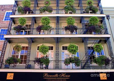 Beautiful Hotel In New Orleans Print by Carol Groenen