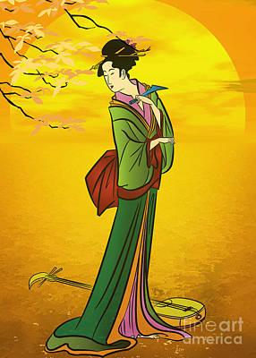 Beautiful Japanese Girl Original by Andrzej Szczerski