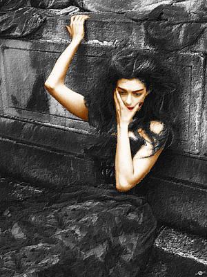 Gown Mixed Media - Beautiful Melancholy 1 by Tony Rubino