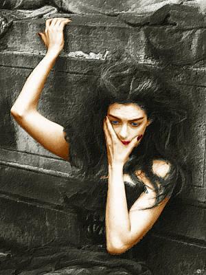 Gown Mixed Media - Beautiful Melancholy 2 by Tony Rubino