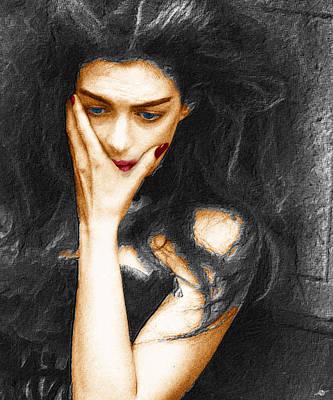 Gown Mixed Media - Beautiful Melancholy 3 by Tony Rubino