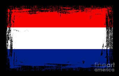 Beautiful Netherlands Flag Print by Pamela Johnson